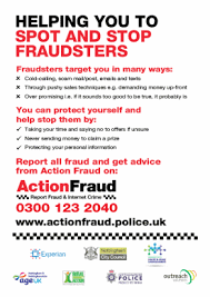 Tackling Fraud Roadshow Tuesday 10th October 1.30-3pm
