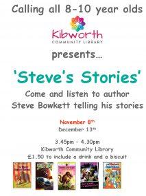 Steves Stories 8th November 3.45-4.30pm
