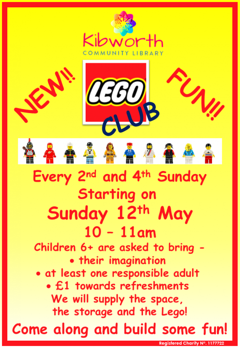 New Lego Club starting in May!