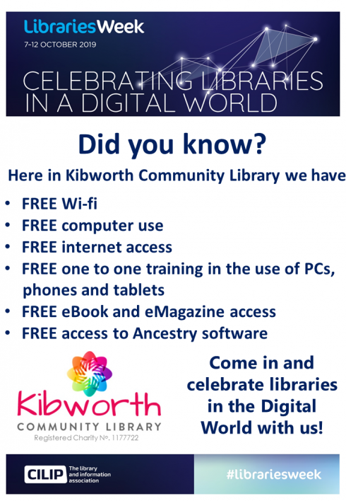 National Libraries Week 7 -12th October