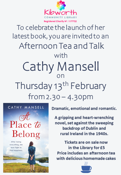 Author and afternoon tea!
